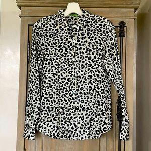 Equipment Femme Small Silk leopard button down